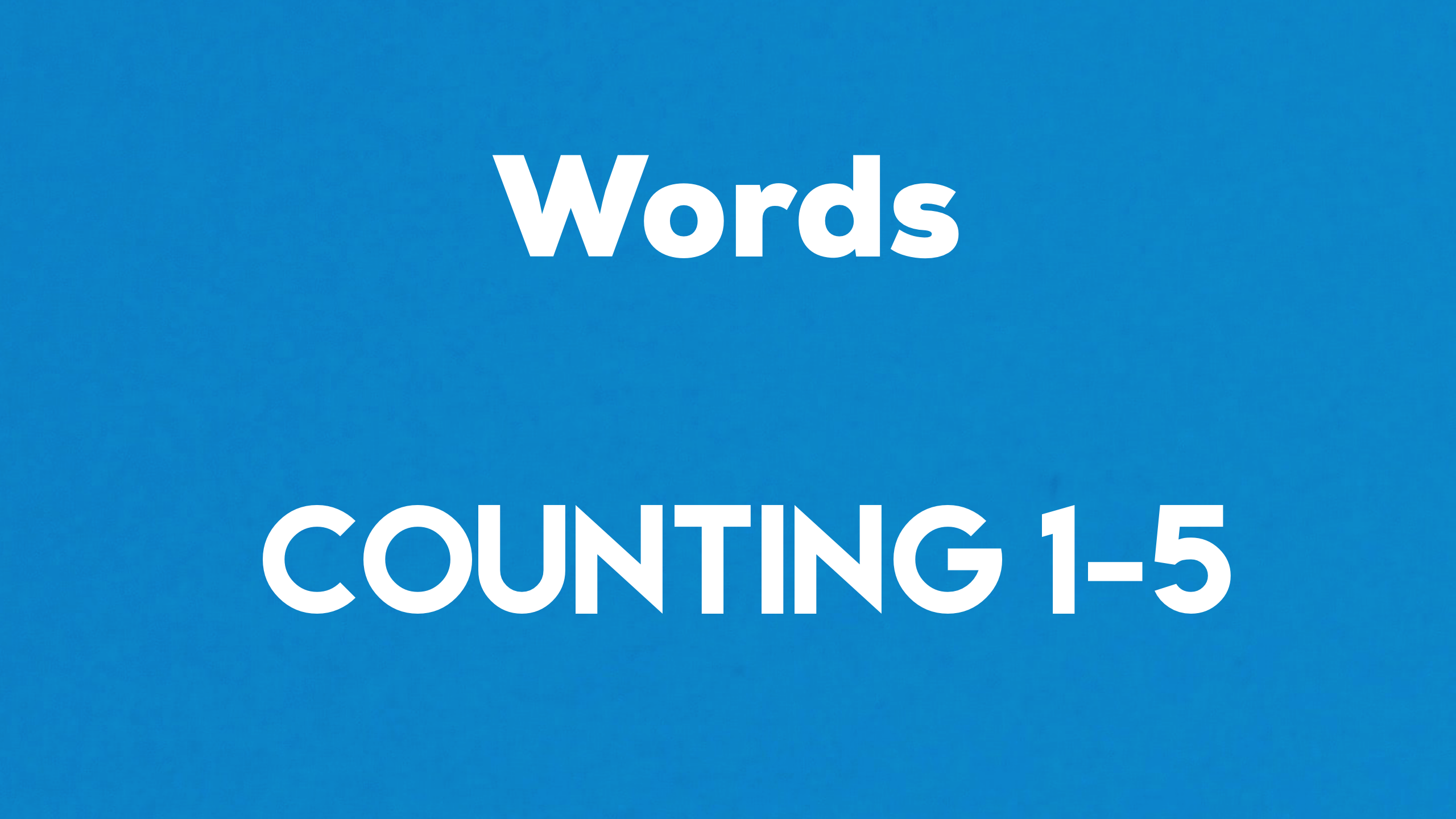 Words Counting 1-5