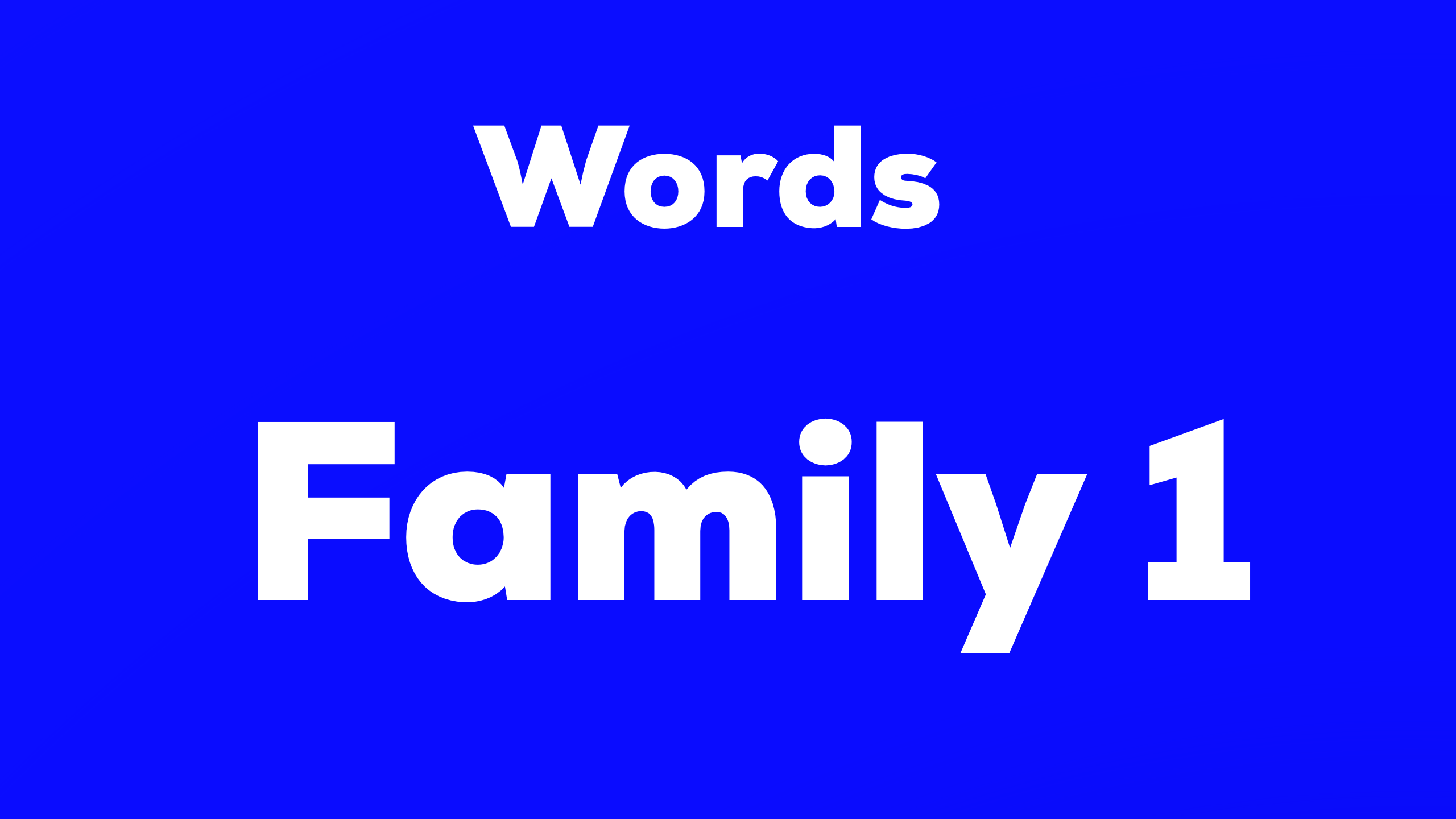 Words-Family 1 難易度☆
