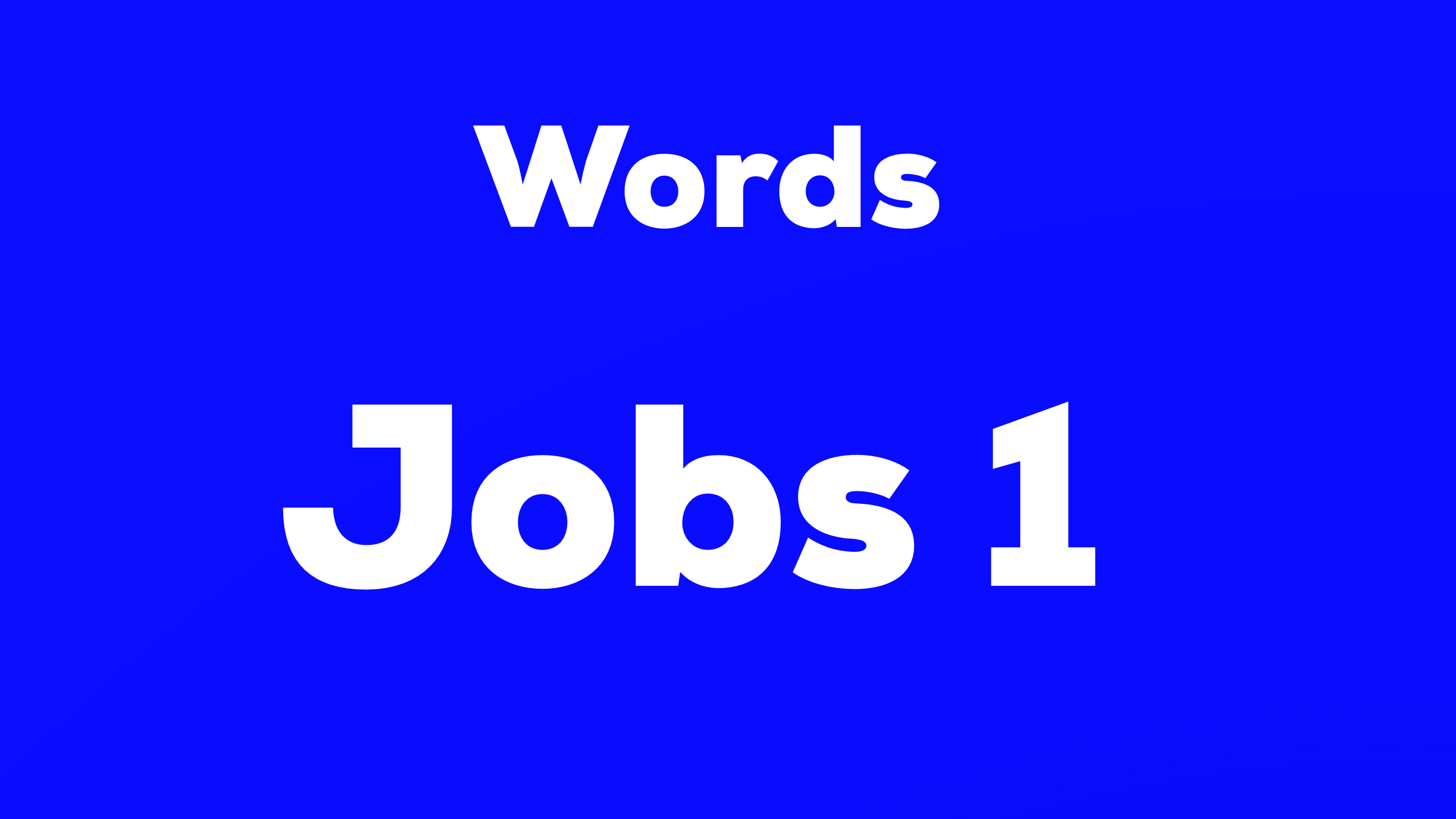 Words Jobs 難易度☆
