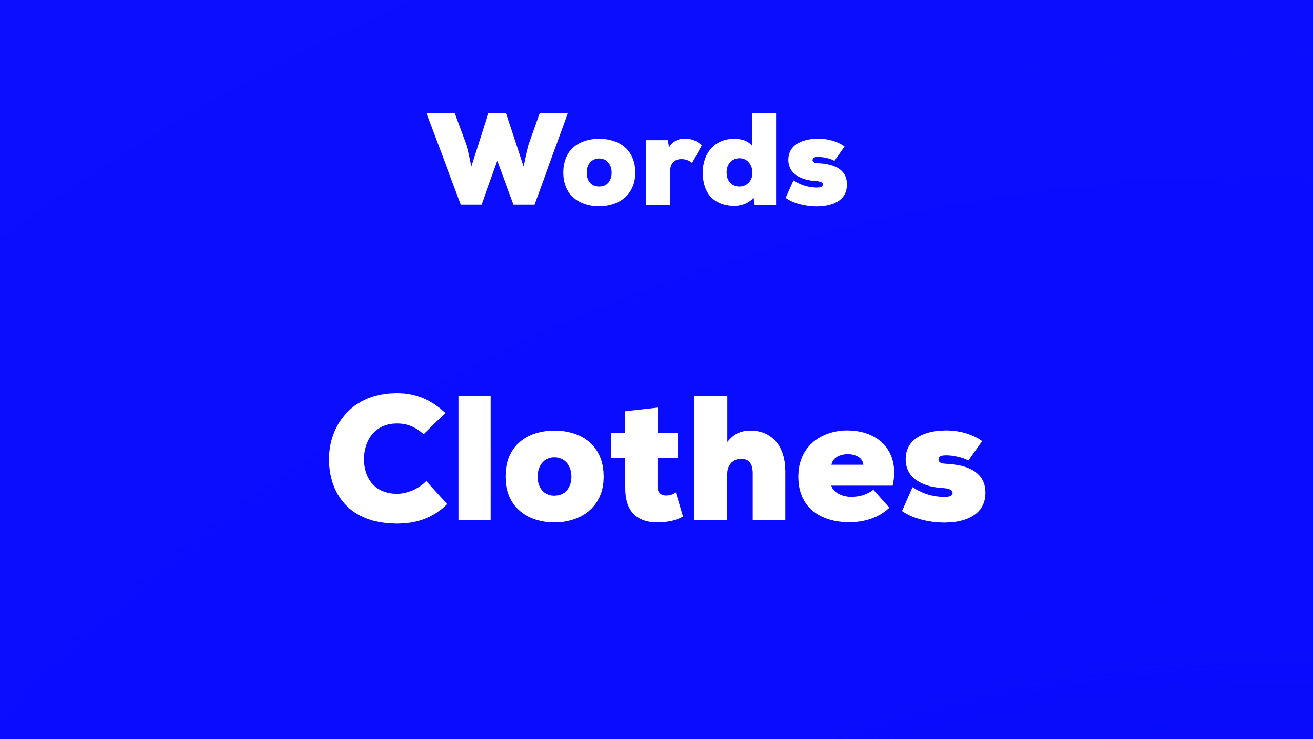 Words Clothes 難易度☆