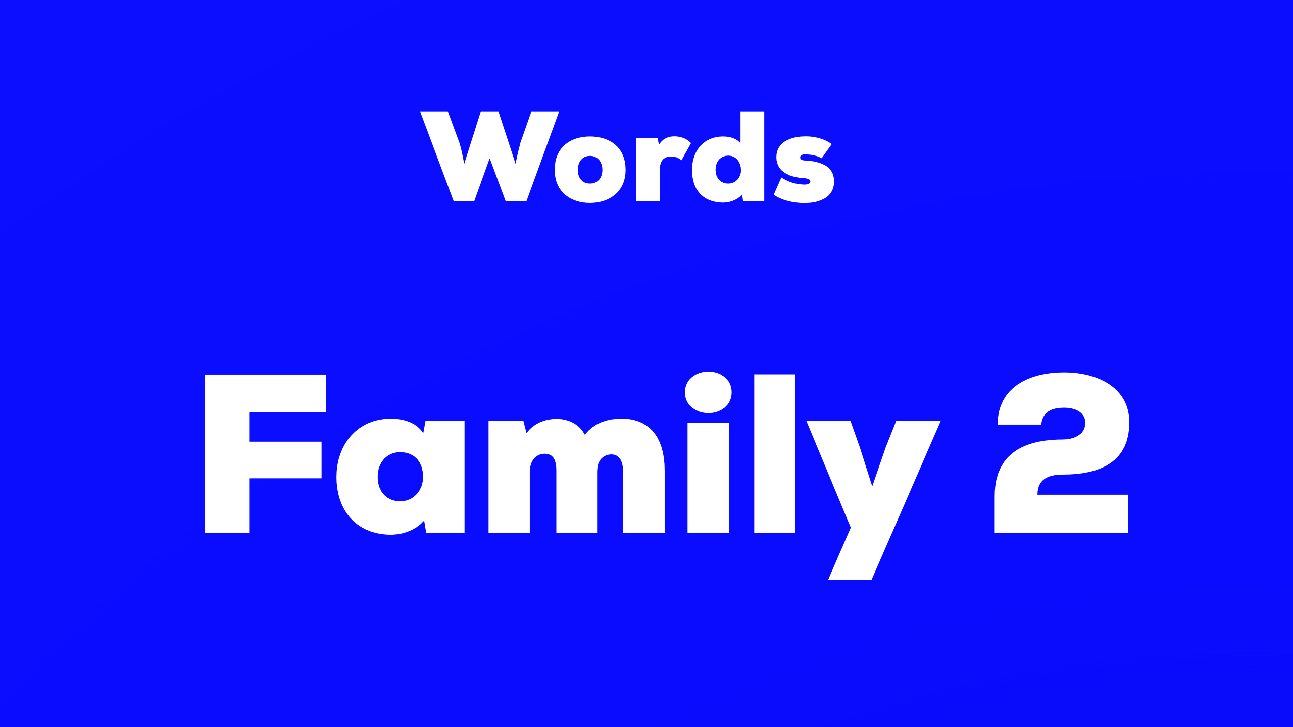 Words-Family 2 難易度☆☆☆