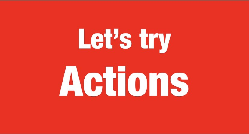 Let's try Actions 難易度☆