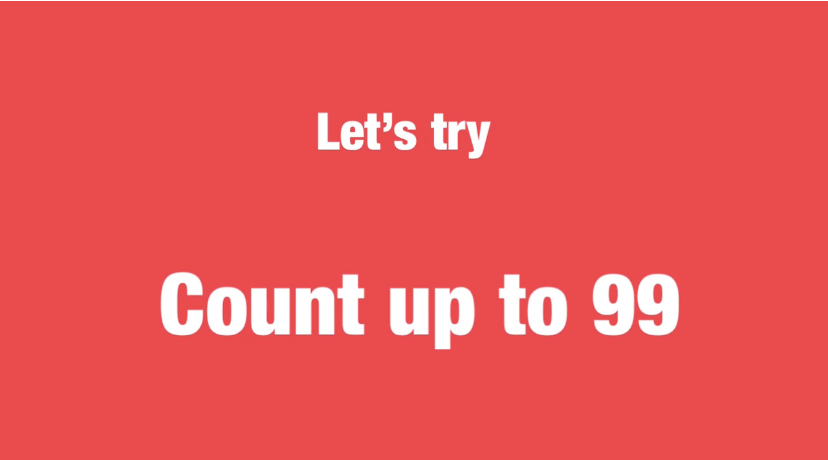Let's try-Count up to 99 難易度☆☆