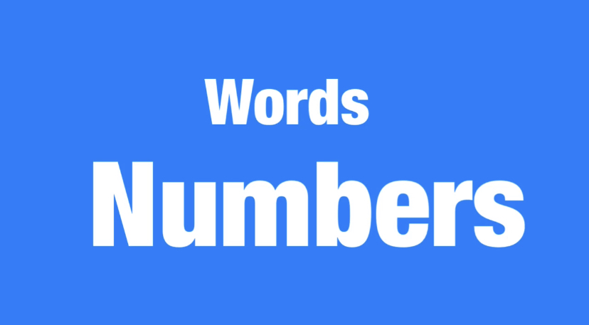 Words-numbers 難易度☆