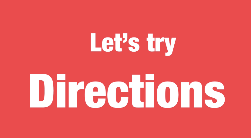 Let's try-Directions 難易度☆